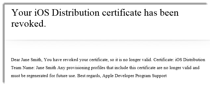 Apple Email About Your Revoked Certificate – Help Center