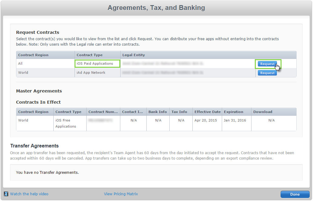 Create an Apple App Store Paid Applications Contract – Help