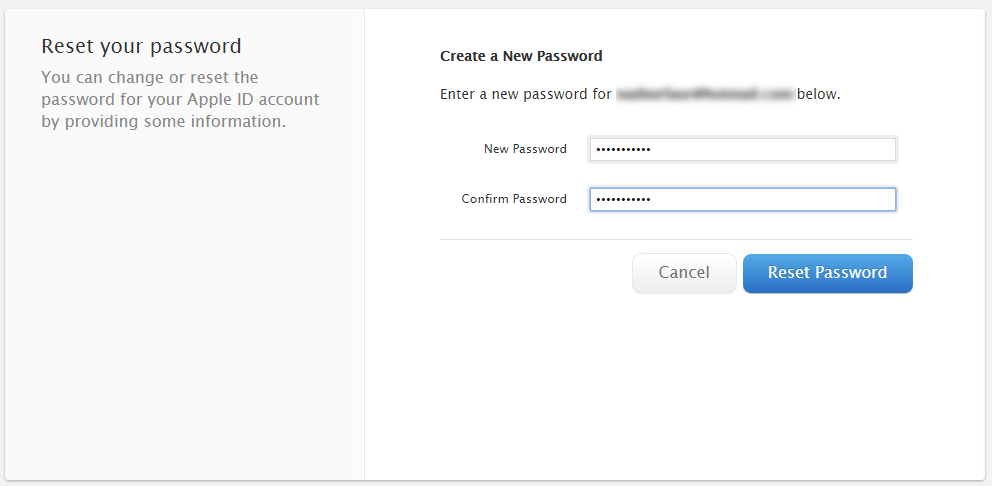 forgot icloud security questions and password