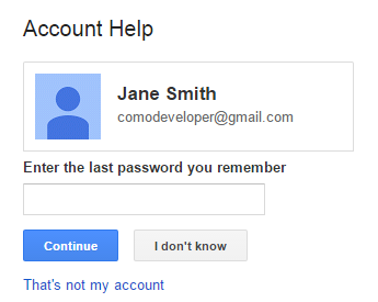 i forgot my gmail password and i have a new number