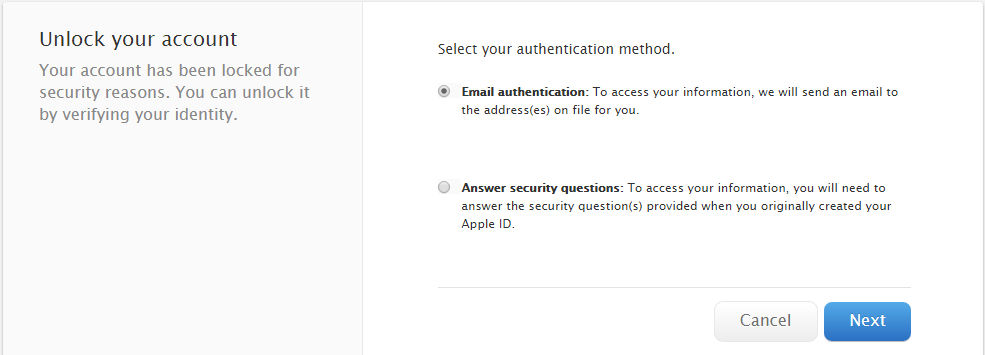 forgotten itunes password and email